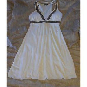 Ruby Rox Ivory & Gold Dress